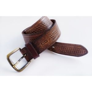 Vintage Levi's Western Cowboy Brown Leather Belt